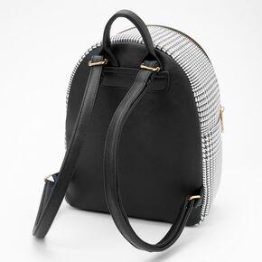 Glen Plaid Small Backpack - Black,