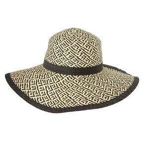 Woven Floppy Straw Sun Hat,