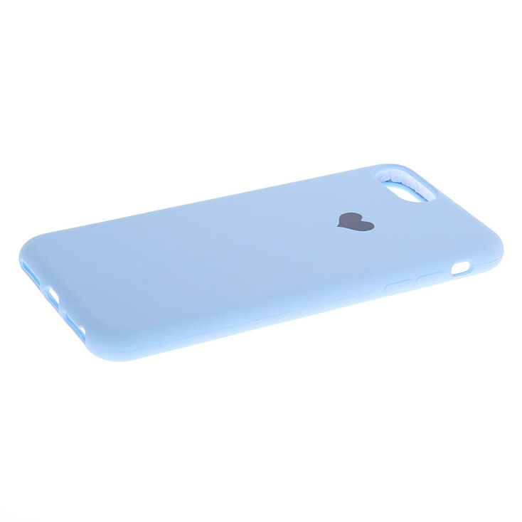 Baby Blue Heart Phone Case - Fits iPhone 6/7/8 Plus,