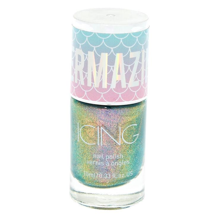Mermazing Chrome Nail Polish - Mermaid Oil Blue,