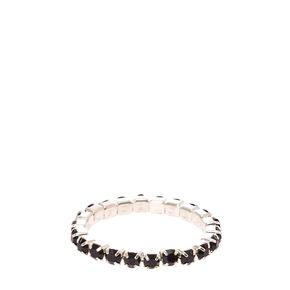 Black Stretch Toe Ring,