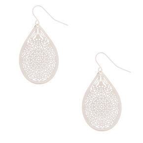 Silver Mini Filigree Drop Earrings,