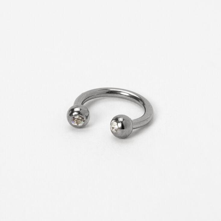 Silver Titanium 16G Horseshoe Septum Nose Ring,