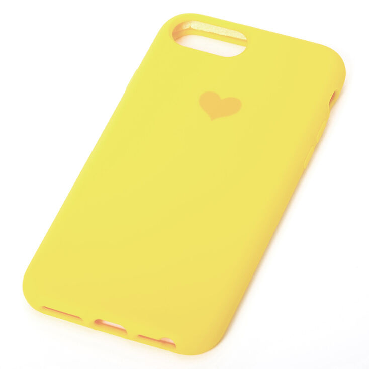 Bright Yellow Heart Phone Case - Fits iPhone 6/7/8/SE,