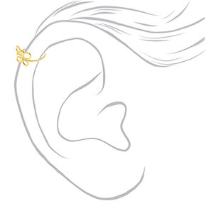 Gold Sterling Silver Butterfly Faux Cartilage Earring,
