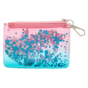 Shaky Confetti Zip Coin Purse - Teal,