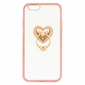 Heart Ring Stand Phone Case - Fits iPhone 6/7/8,