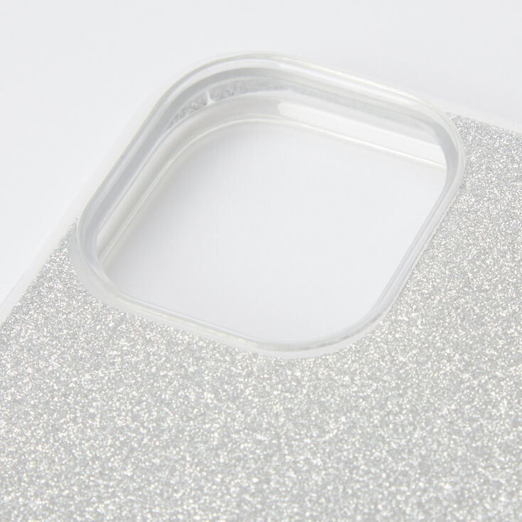 Silver Glitter Protective Phone Case - Fits iPhone 11 Pro,