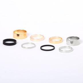 Mixed Metal Basic Ring Set - 8 Pack,