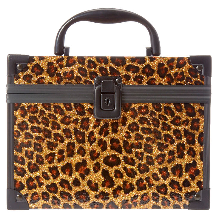 Glitter Leopard Print Lock Box,