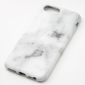 White Marble Protective Phone Case - Fits iPhone 6/7/8/SE,