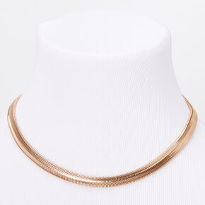 Gold Sleek Snake Chain Necklace,