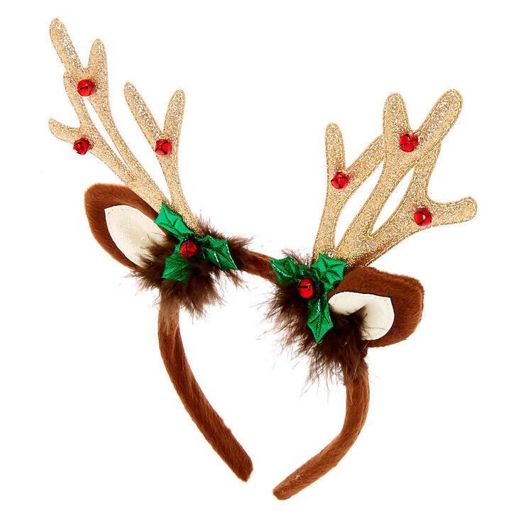 Reindeer Antlers Headband - Brown,