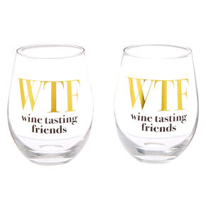 WTF Wine Tasting Friends Wine Glass Set - 2 Pack,