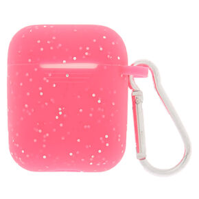 Hot Pink Silicone Earbud Case Cover - Compatible With Apple Airpods,