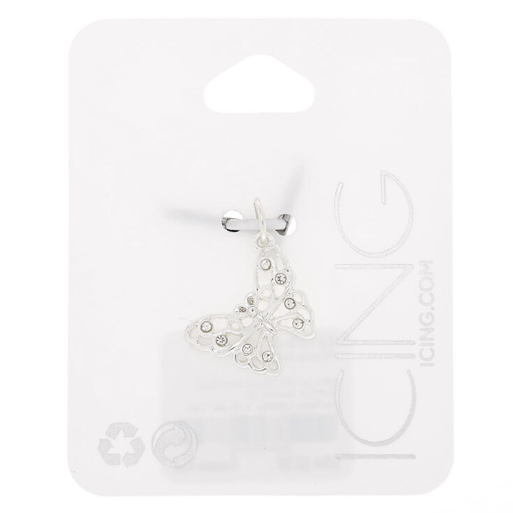 Silver Butterfly Charm,