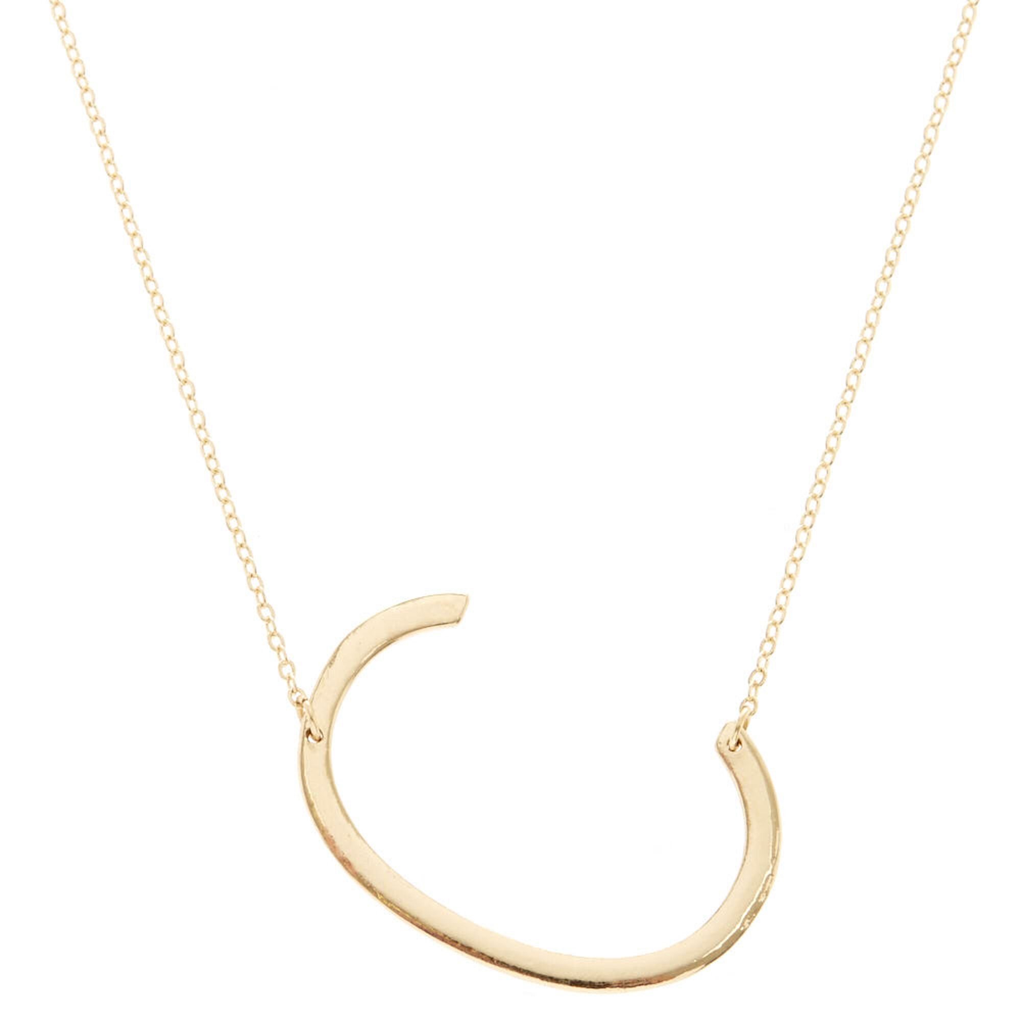 c gold letter initial pendant necklace diamond