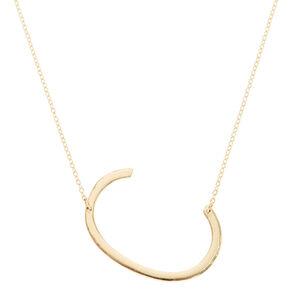 """XL """"C"""" Initial Pendant Necklace,"""