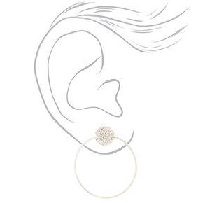 """Crystal 1.5"""" Drop Earrings,"""