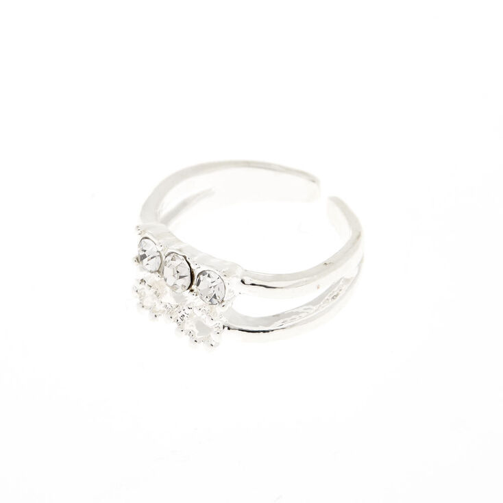 Silver Infinity Crystal Toe Ring,