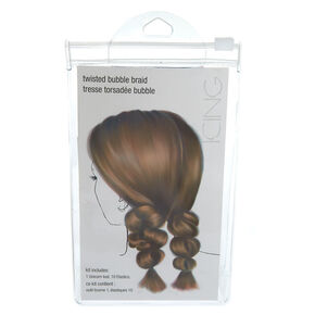 Twisted Bubble Braid Hair Tools Kit,