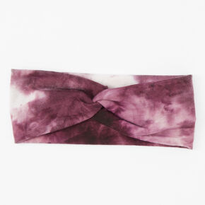 Tie Dye Twisted Headwrap - Burgundy,