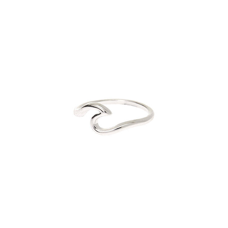 Silver Wave Ring,