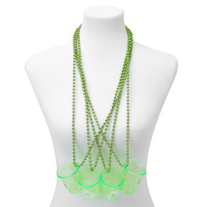 St. Patrick's Day Shot Glass Beads - Lime Green,