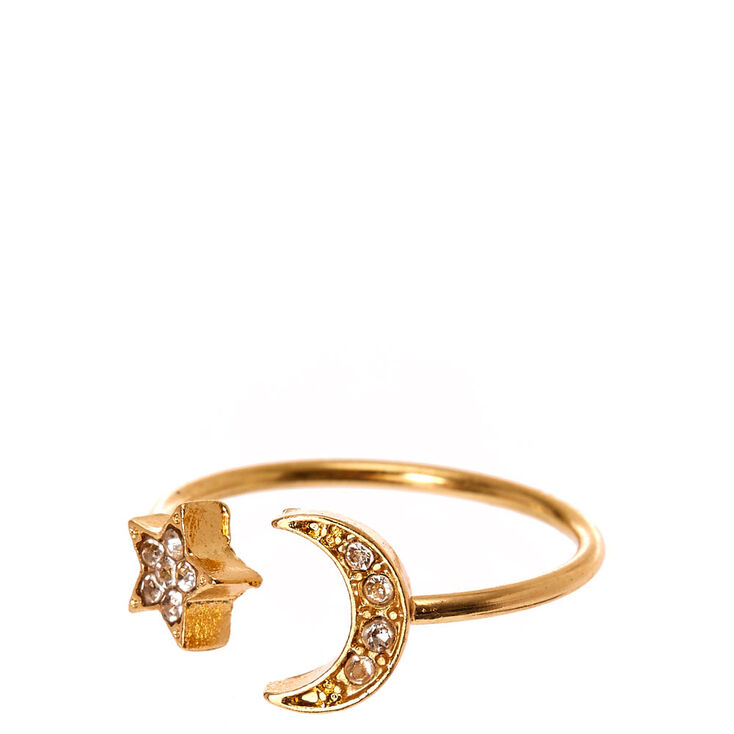 Moon & Stars Pavé Ring,