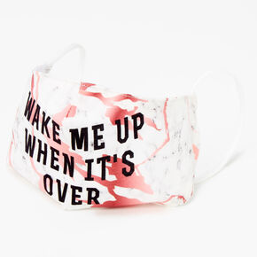 Cotton Wake Me Up When It's Over Face Mask - Adult,