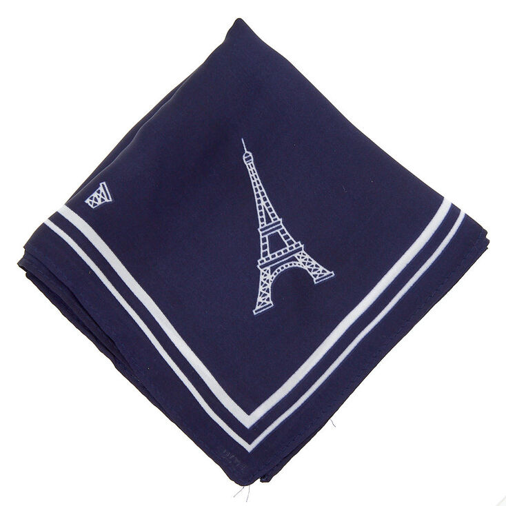 Paris Fashion Neck Scarf - Navy,