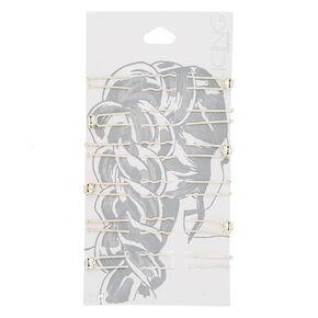 Silver Rhinestone Hair Pins - 6 Pack,