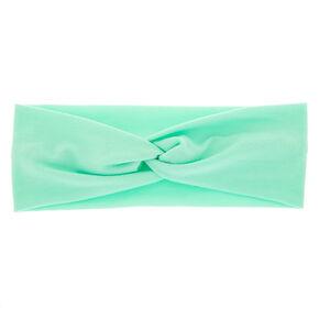 Wide Jersey Twisted Headwrap - Mint,