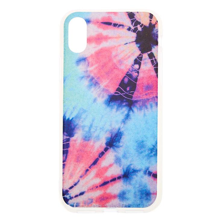Pastel Tie Dye Glitter Phone Case - Fits iPhone X/XS,