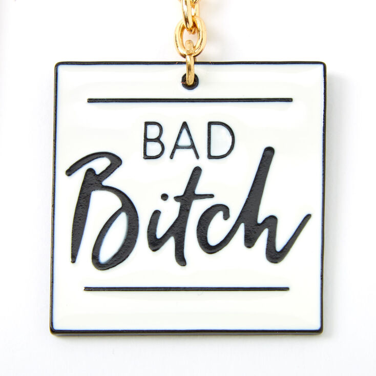 Best Friends Basic & Bad Bitch Keychain Set - 2 Pack,