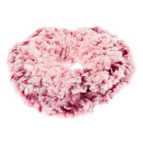Teddy Hair Scrunchie - Burgundy,