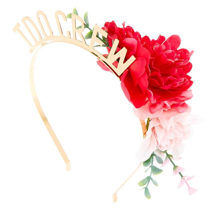 Floral I Do Crew Headband - Gold,