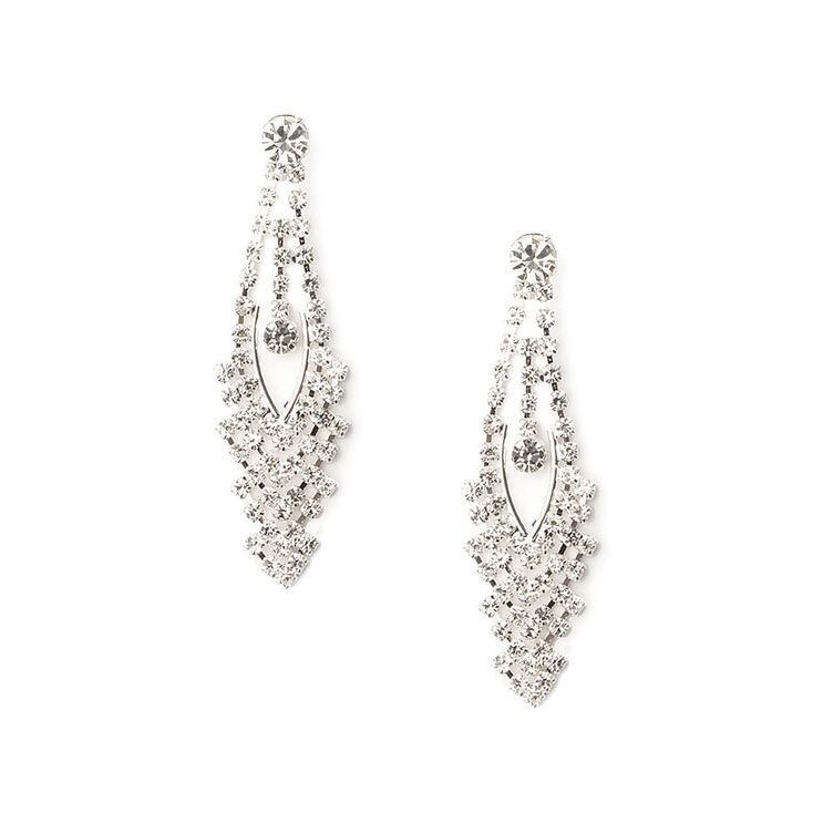Cascading Crystal Drop Earrings,