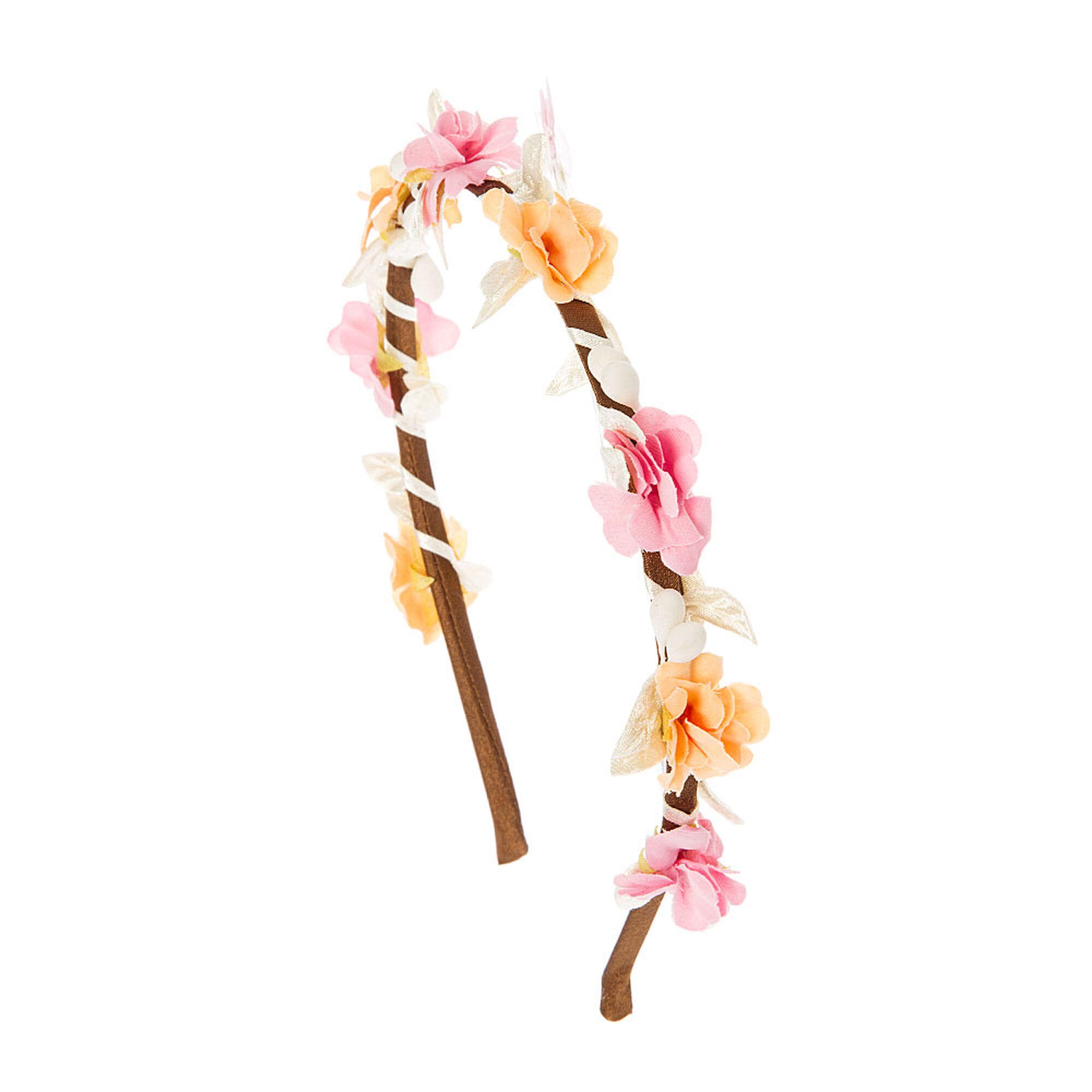 Pink peach flower crown headband icing us pink peach flower crown headband izmirmasajfo