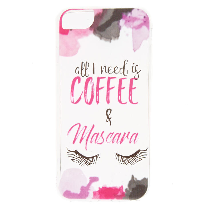 Coffee + Mascara Phone Case - Fits iPhone 6/7/8,