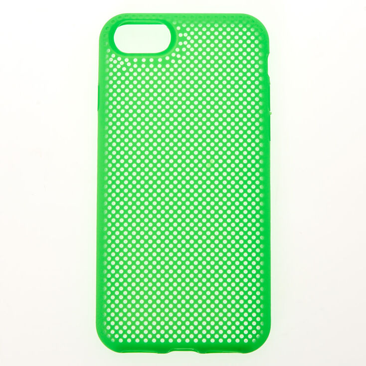 Neon Green Perforated Phone Case - Fits iPhone 6/7/8/SE,