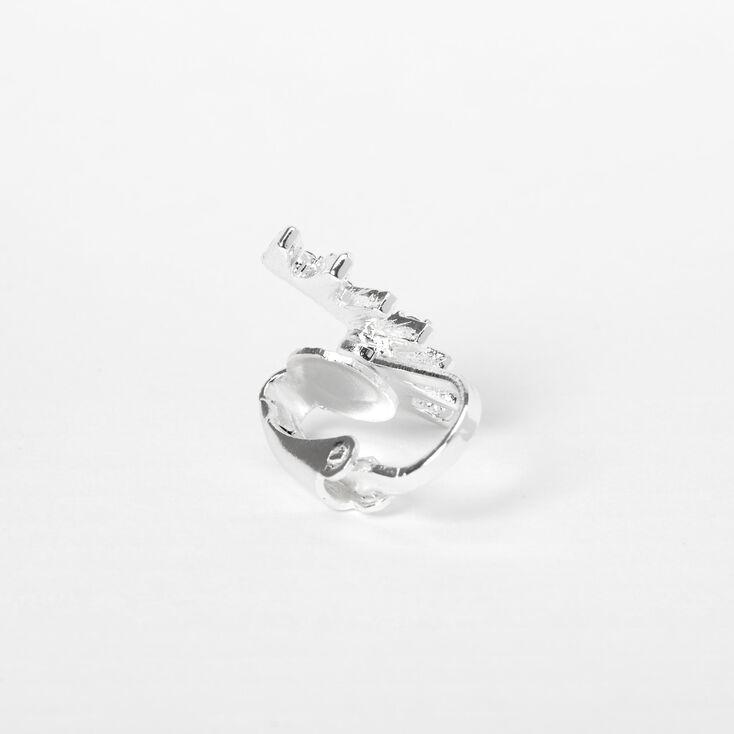 Silver Embellished Spike Ear Cuff,