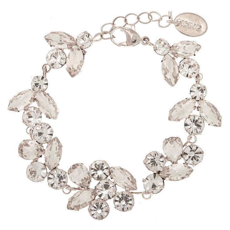 Silver Rhinestone Vine Chain Bracelet,