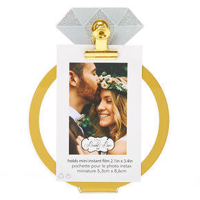 Diamond Ring Instax Photo Holder - Gold,