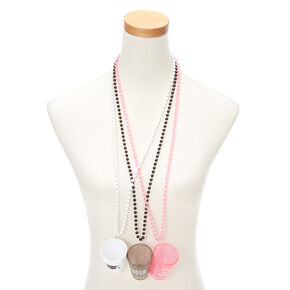 Graduation Shot Glass Beaded Necklaces - 3 Pack,