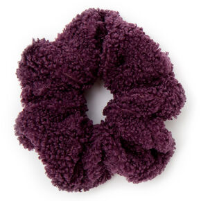 Medium Teddy Hair Scrunchie - Plum,
