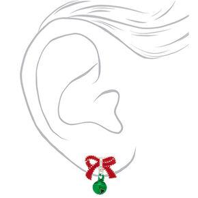 Bow & Bell Stud Earrings,