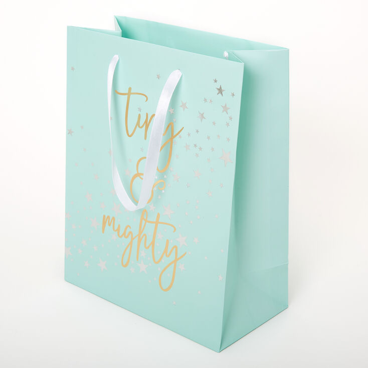Small Tiny & Mighty Gift Bag - Mint,