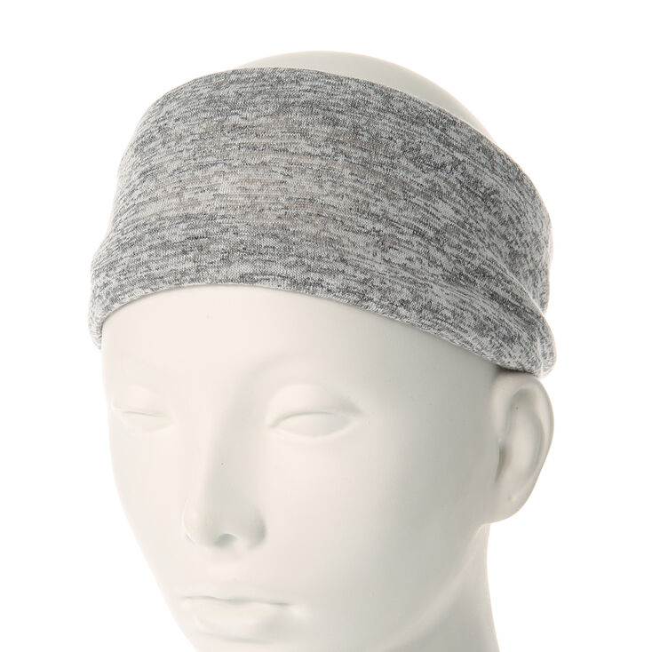 Two-Tone Gray  Jersey Headwrap,