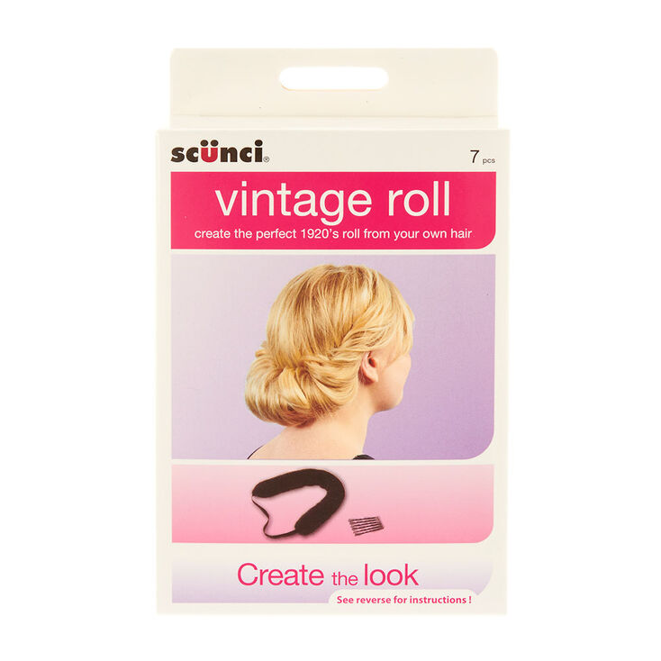 1930s Hairstyles for Long Hair Icing Scunci Vintage Roll Styling Kit $12.50 AT vintagedancer.com